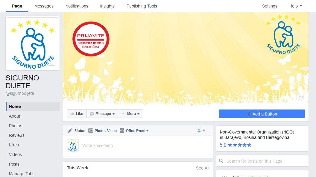 Posjetite Sigurno dijete web portal, Facebook i Twitter stranicu, i ...