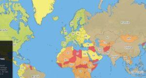 Najopasnije zemlje za putovanja su Sirija i Afganistan, a najsigurnije Norveška i Island