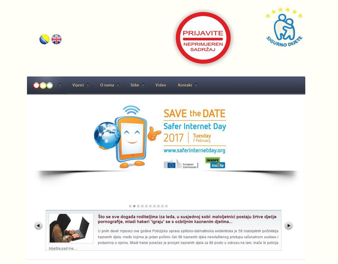 Posjetite sajt Sigurnodijete.ba – online prijavite neprimjerene ...